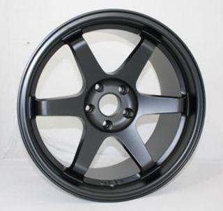 18x8 5 5x114 3 35 Matt Black Wheels Fit RSX TSX Civic SI RX8