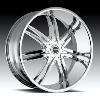 20 inch Strada Diablo Chrome Wheels Rims 6x4 5 6x114 3 Nissan