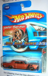 Buick Riviera Gold FTE Rims 2005 Hot Wheels Faster Than Ever