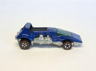 Hot Wheels Redline 1973 Dark Blue Enamel Double Header   SUPER NICE