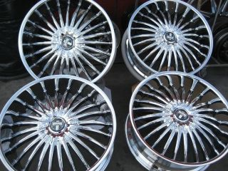 24 DUB SUAVE CHROME WHEELS RIMS AND TIRES PACKAGE GIANNA LEXANI ASANTI