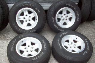 04 06 Jeep 95 06 Wrangler Factory 15 Wheels Rims Tires Grand Cherokee