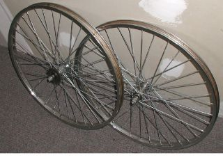 motorized bike heavy duty wheels w/105 gauge spokes & dimpled rims
