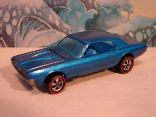 Hot Wheels Redline Custom Cougar Blue Deep Dish Wheels Shweet