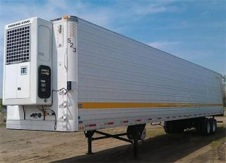 53 x 102 Refrigerated Reefer Trailer Thermo King Unit Aluminum Wheels