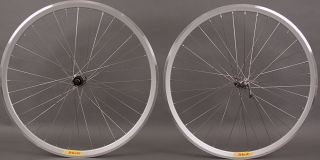 New Shimano 105 36 Hole Velocity Deep V Silver Road Bike Wheels