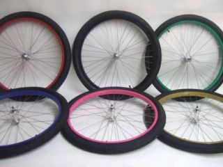New 26 Cruiser Bike Bicycle Wheels wtih Tires