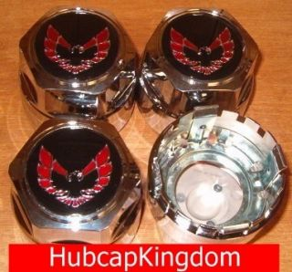 Pontiac Firebird Trans Am Center Cap Set Chrome Red
