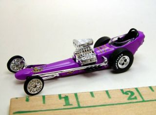 100% HOT WHEELS PURPLE GANG TOP FUEL NHRA DRAGSTER RUBBER TIRE LIMITED