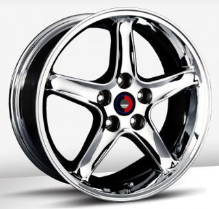 Cobra R Replica Chrome Wheel Rim s 4x108 4 108 4x4 25 17 9