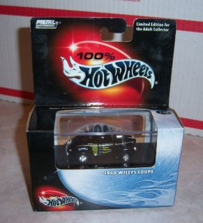 100 Hot Wheels 1940 Willys Coupe Swindler A Black 1 64 Black Box