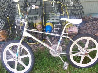 Haro master BMX free style bike chrome W/ original stickers and wheels
