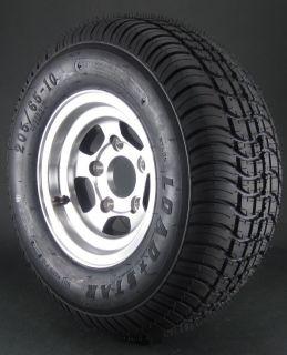 20 5X8 00 10 Trailer Tire On 5 Bolt Aluminum Wheel Combo 10 inch