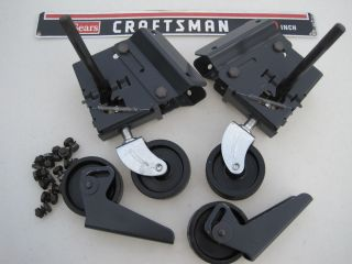 Craftsman Table Saw Caster Wheel Set with Instructions