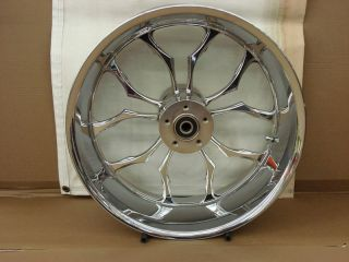 Weld Recluse 17x12  Chrome Motorcycle Rear Wheel