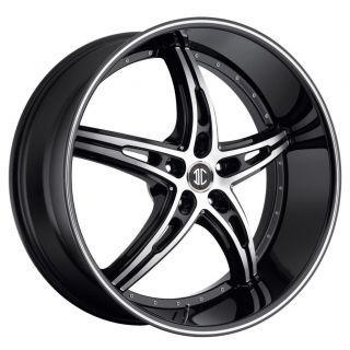 2CRAVE NO25 Black Diamond Wheels Rims 5x115 300C Charger Magnum