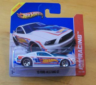 VHTF 2013 Hot Wheels HW Racing Series 13 Ford Mustang GT White with