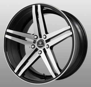 20 inch Parallax Black Wheels Rims Staggered 5x112 Audi A3 A4 A5 A6 A8