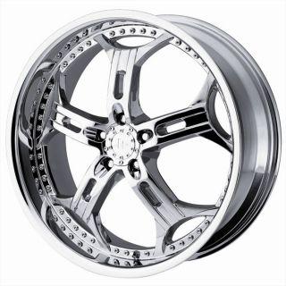 20 inch 20x8 5 Helo HE834 Chrome Wheels Rims 5x115 15