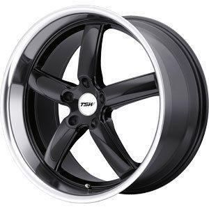 New 17x8 5x114 3 TSW TSW Stowe Black Wheels Rims