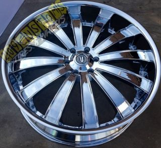 22 inch Versante Rims Wheels Tires VW225 5x115 22x9 5 Chrome Dodge