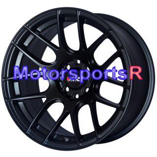 15 15x8 XXR 530 Flat Black Wheels Rims Concave 4x114 3 4x4 5 Stance