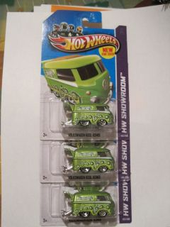2013 Hot Wheels Volkswagen Kool Kombi Lot of 3 Cars