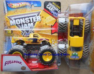 2013 FULLBOAR Mud Hot Wheels Monster Jam 1 64 scale Full Boar truck w