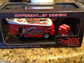 Hot Wheels 2012 Las Vegas Super Convention Pope VW Drag Bus only 50