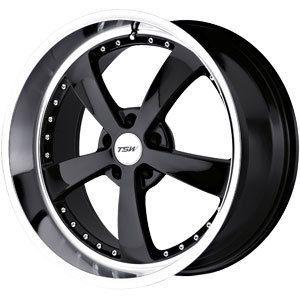 New 17x8 5x120 TSW Strip Black Wheels Rims
