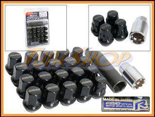 17 HEX CLOSE END WHEELS LOCK LUG NUTS 12X1 5 1 5 ACORN RIMS BLACK M