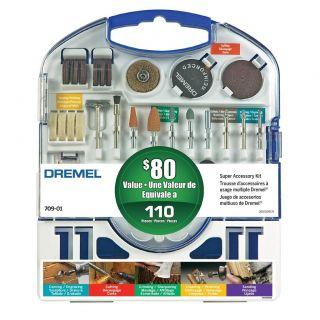 Dremel 110pc Accessory Kit Cutting Wheels MANDREL709 01