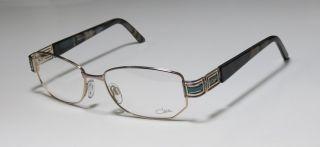 New Cazal 1014 54 17 130 Gold Green Marble Full Rim Eyeglasses Frames