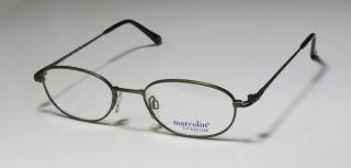 New Marcolin 2038 51 20 145 Green Titanium Full Rim Eyeglasses Frames