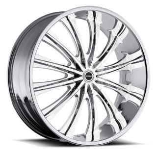 20 inch 5x4 5 5x120 Chrome Wheels Rims 5 Lug Chevy BMW Mitsubishi