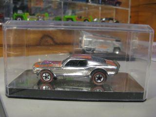 Hot Wheels Redline Mustang Stocker Super Chromes 450 HP 1976 Red Line