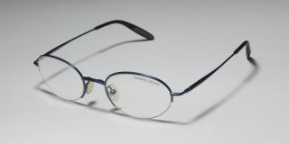 New Porsche Design 7001 A 48 20 130 Half Rim Oval Blue Eyeglasses