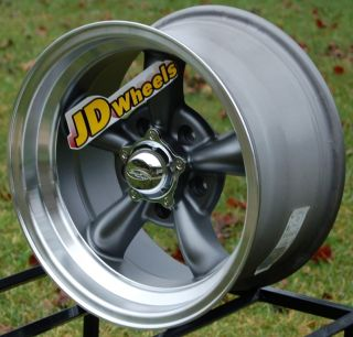 Jdwheels 15x8 American Eagle 111 Gray 5x4 5 Muscle Car Wheel Ford