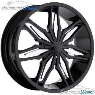 Milanni Stalker 5x112 5x114.3 5x4.5 +35mm Black Wheels Rims Inch 20