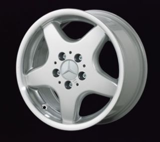 Mercedes AMG Style 5 Spoke Alloy Silver Rim Wheels 129 SL Class