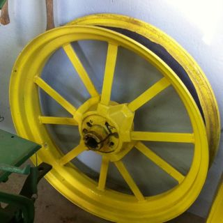 John Deere 1937B Flat Spoke Cut Off Rims