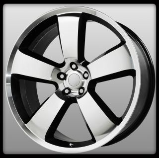 Replicas V1150 SRT8 Black Machined Charger 5x115 Wheels Rims