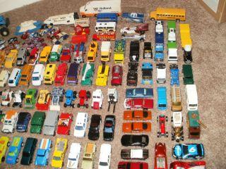 Huge Lot of 130 pieces Hot Wheels Matchbox cars trucks diecast 1 64 NO