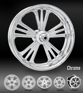 PM Icon Chrome Wheels 21 Front 18 Rear Harley FLH Flt 02 07 Touring