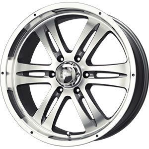 New 17x8 6x139 7 MB Motoring Anthracite Wheels Rims