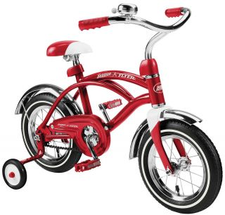 CLASSIC RED CRUISER 12 INCH Bike BOYS BICYCLE BMX TRAINING WHEELS
