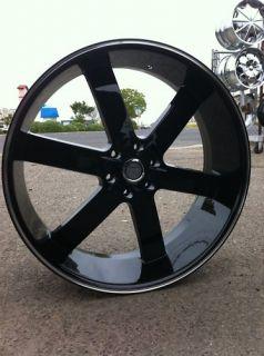 26 U2 55 Gloss Black 6x139 Rims Chevy GMC Titan Nissan QX56 New Tahoe