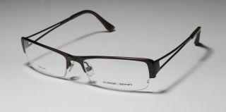 New Prodesign Denmark 1358 55 17 Half Rim Brown Eyeglasses Glasses