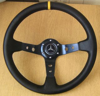 Deep Dish Rally Steering Wheel for Mercedes W201 190 E D W123 W124 CLK