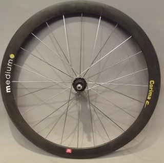 700C CORIMA MEDIUM CARBON FIBER CLINCHER REAR WHEEL AERO BLADED SPOKES